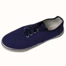 Férfi vászoncipő kék