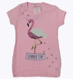 Flamingós tunika ru. Rózsaszínű