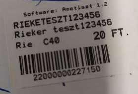 Rieker teszt123456 Bélelt bokacsizma