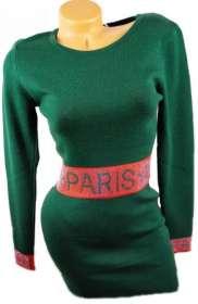 Csini női kötött Ruha zöld