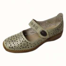 Rieker női csatos Lyukacsos cipő